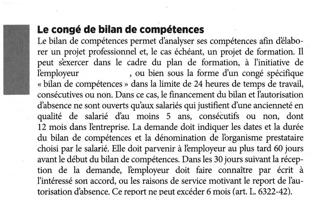 BILAN  DE  COMPETENCE